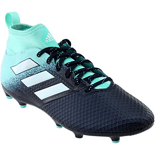adidas Originals Men's Ace 17.3 Firm Ground Cleats Soccer Shoe, Energy Aqua/White/Legend Ink, (10 M US)