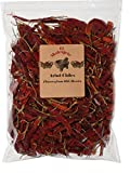 mexican chilies - Arbol Chile Whole Dried Arbol Chile - 8 oz Resealable Bag - El Molcajete Brand for Mexican Recipes, Tamales, Salsa, Chili, Meats, Soups, Stews & BBQ
