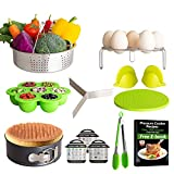 SOKUTOM Instant Pot Accessories Set, Compatible with Instant Pot 5,6,8 Quart, Steamer Basket, Springform Pan, Egg Rack, Oven Mitts, Kitchen Tong, Egg Bites Mold, Magnetic Cheat Sheets and many more