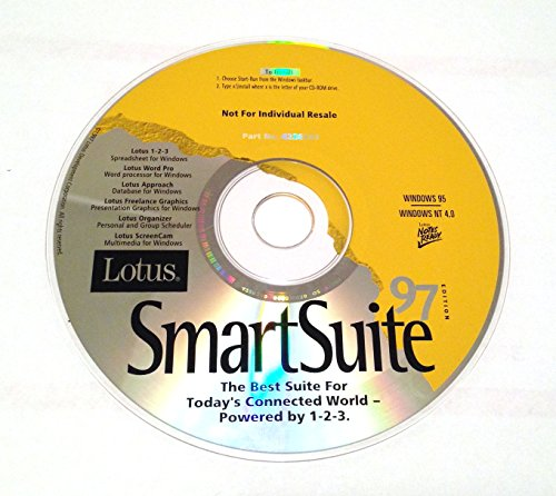 Lotus Smartsuite 97 Lotus 1-2-3 5 Wordpro 97 Approach 97 Freelance Graphics 97 Organizer 97 Screencam 97 - Disk Ibm Unit