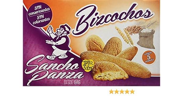 Sancho Panza - Bizcochos - Sin conservantes ni colorantes - 5 paquetes - [Pack de 4]: Amazon.es: Alimentación y bebidas