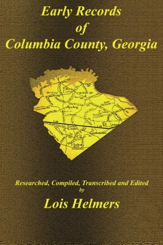 Download Early Records of Columbia County, Georgia pdf