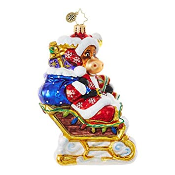 Christopher Radko Off To the Lodge Animal Christmas Ornament