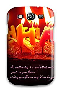 Tpu Shockproof/dirt-proof Happy Birthday Cake And Candles Cover Case For Galaxy(s3)
