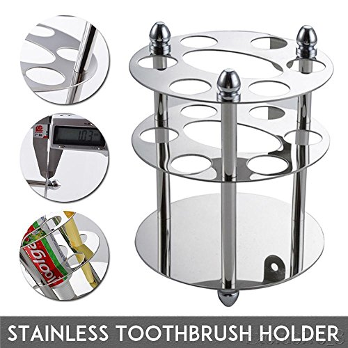 NPLE--US Stainless Steel Bathroom Toothbrush Toothpaste Cup Holder Stand Razor - Renew Toothpaste