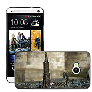 Hot Style Cell Phone PC Hard Case Cover // M00169696 Relief Metal Ulm Cathedral M??nster // HTC One M7