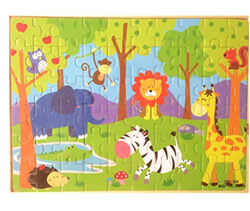Puzzle Shaped Animals Zoo (Vytung 60 Pieces Wooden Jigsaw Puzzle Toddler Animal Zoo Educational Toys)