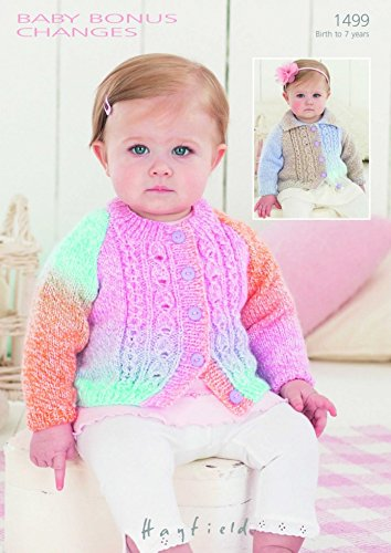 - Hayfield Baby Cardigans Baby Changes Knitting Pattern 1499 DK