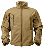 Rothco Special Ops Tactical Soft Shell Jacket, Coyote Brown, L