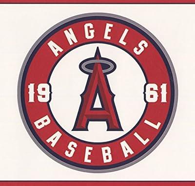 Los Angeles Angels MLB Baseball Team Fan Sports Wallpaper Border Modern Design, Roll 15' x 6''