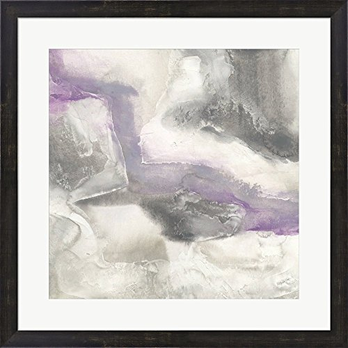 Shades of Amethyst I by Chris Paschke Framed Art Print Wall Picture, Espresso Brown Frame, 25 x 25 - Shades Brown Chris