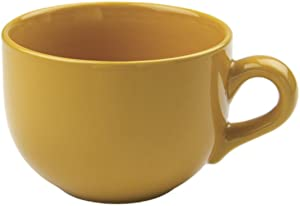 24 ounce Extra Large Latte Coffee Mug Cup or Soup Bowl with Handle - Gold Yellow
