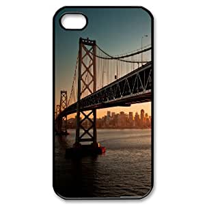 San Francisco Bridge Side IPhone 4/4s Case, Apple Iphone 4s Case for Man Cute Design Cheap Evekiss - Black