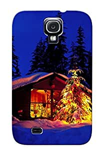 New Tpu Tree Hard Case Premium Galaxy S4 Skin Case Cover(cottage With Lights) For Christmas Gift