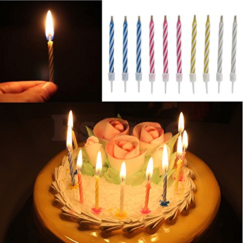 Stupendous 10Pcs Magic Relighting Candle Relight Birthday Party Fun Trick Funny Birthday Cards Online Inifodamsfinfo