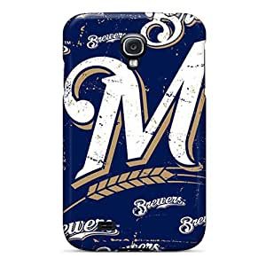 S4 Scratch-proof Protection Case Cover For Galaxy/ Hot Milwaukee Brewers Phone Case