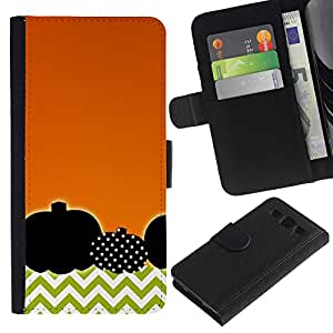 A-type (Polka Dot Orange Chevron) Colorida Impresión Funda Cuero Monedero Caja Bolsa Cubierta Caja Piel Card Slots Para Samsung Galaxy S3 III i9300 i747