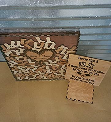 Wedding Guest Book Alternative Drop Box Western Package with 100 Boots