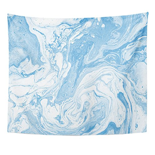 (Emvency Tapestry Light Blue and White Colours Beautiful Abstract Marble Modern Home Decor Wall Hanging for Living Room Bedroom Dorm 50x60 Inches)