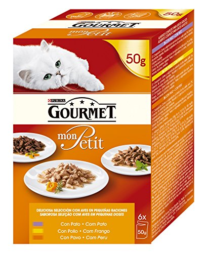 Purina Gourmet Mon Petit conmida para gatos con Pato, Pollo ...
