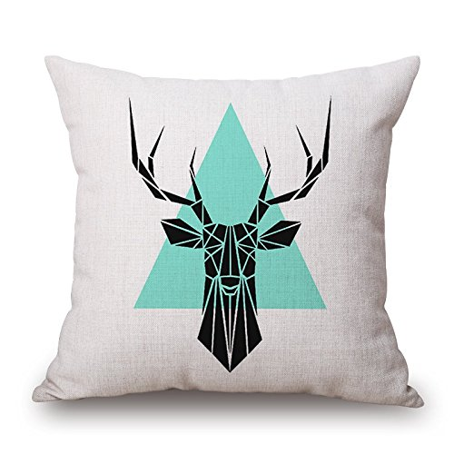 deer pillow shams 20 x 20 inches / 50 by 50 cm best choice for kitchen,father,valentine,son,study room,bench with double sides Transportation Multi Duvet Set