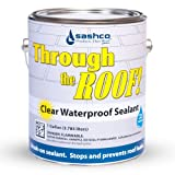 stop roof leak - Sashco Through The Roof Sealant, Brush Grade, 1 Gallon Container, Clear (Pack of 1)