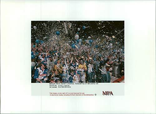 (Vintage photo of Blackburn Rovers Football Club Fans.)