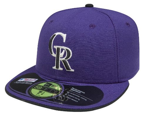 MLB Colorado Rockies Authentic On Field Alt2 59FIFTY Cap, Purple, 8 1/4