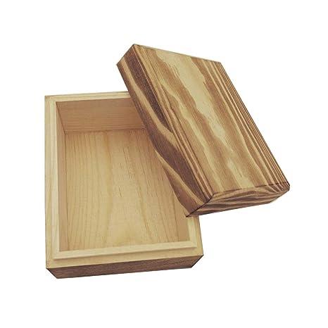 ECYC Caja De Madera PequeñA De Madera, Caja De Almacenamiento De JoyeríA para Regalo Small