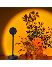 Sunset Lamp Projector Rainbow Projection Lamp Romantic Led Sunset Projection Light for Party Photo Vlog Background Bedroom