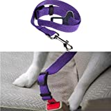 Outtop Dog Dog Vehicle Restraint Adjustable Pet Dog Cat Car Seat Belt Safety Leads Vehicle Seatbelt Harness (Purple) Review