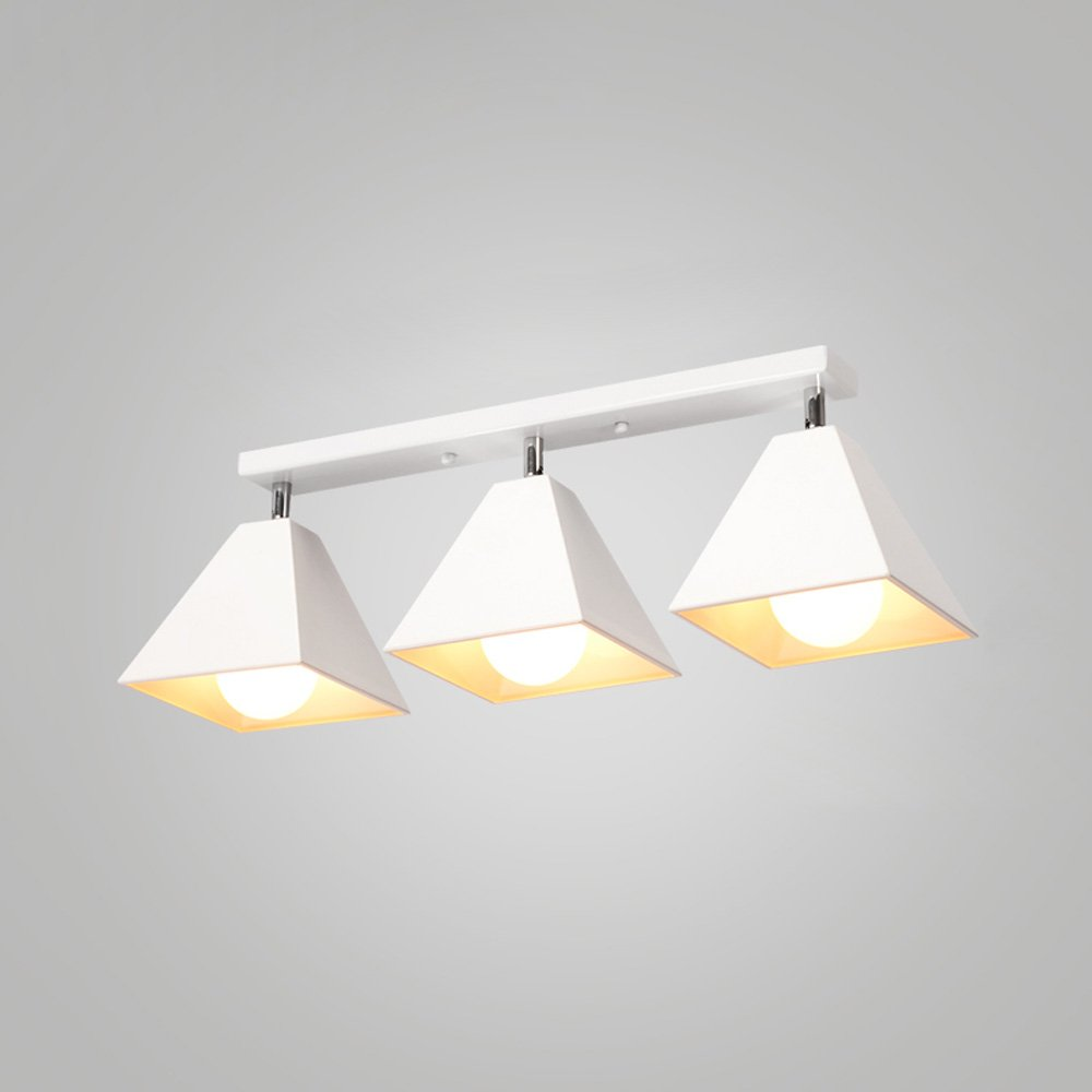 Iron Small Ceiling Lamp LED Nordic Creative Ceiling Light For Living Room Aisle Corridor Cloakroom Balcony Bay Window Cafe Chandelier ( Color : White , Size : C )