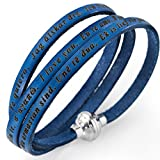 Holyart Amen bracelet I love you, denim blue with charm, 57 cm (22.46 inc.)
