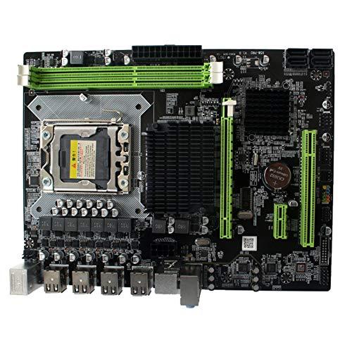 Serveyou Desktop Computer Motherboard - X58 Pro CPU Interface LGA 1366 Pin DDR3 Dual Channel, PC Mainboard for E5520 E5540 X5550 and Other 130W 150W Quad-core/six-core CPU(18x24cm) (Computer Series Servers Memory)