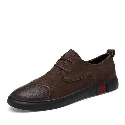 Hongjun-shoes, Mocasín Penny de los Hombres, Zapatos de conducción Mocasín Zapatos sin