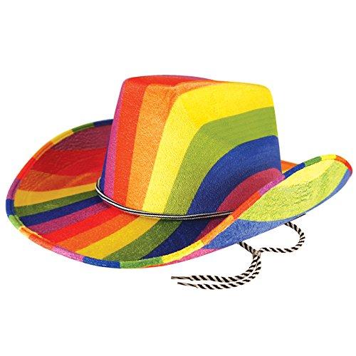 Rainbow Cowboy Hat (Henbrandt Adult Cowboy Hat - Felt Rainbow)