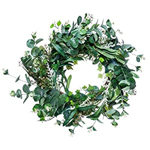 """Red Co. 20"""" Luscious Green Spring, Artificial Spring & Summer Wreath, Door Backdrop Ornaments, Home Décor Collection 116"""