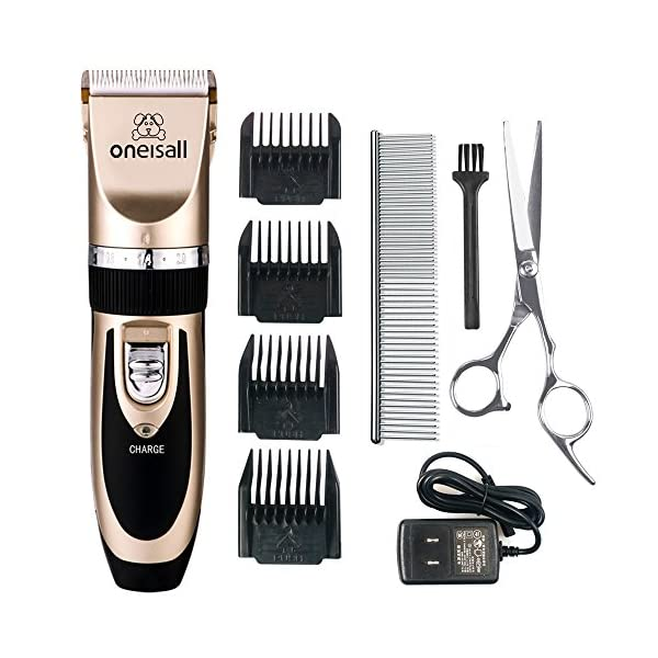 oneisall Dog Shaver Clippers Low Noise Rechargeable Cordless Electric Quiet Hair Clippers Set for Dogs Cats Pets 1