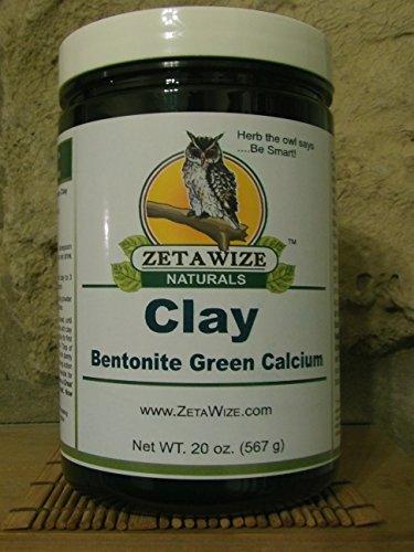 Green Clay Calcium Bentonite * Pure Fine Mesh Powder * Face Mask * Detox Drink * High 9.7 pH * All Clay Uses * BONUS SIZE 20 oz. (1.25 LB)