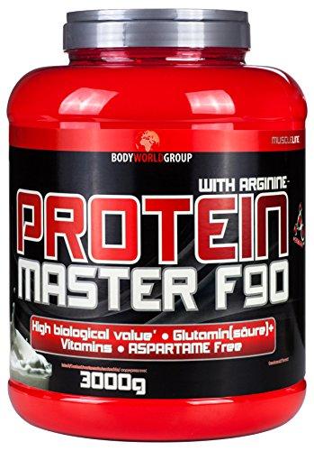 BWG Protein Master F90, Eiweißshake, Muscle Line,Deluxe Proteinshake Cookies und Cream, Dose mit Dosierlöffel, 1er Pack (1 x 3000g)