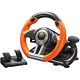 Volante de Carreras para PC PXN V3II | Volante de Carreras con Pedal de 180º USB Universal | Compatible con Windows PC…