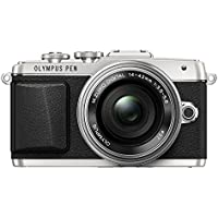 Olympus E-PL7 16MP Mirrorless Digital Camera with 3-Inch LCD with 14-42mm EZ Lens (Silver) - International Version
