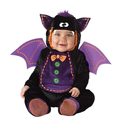 Bat Costume Infant, Baby Boy Girl Cute Halloween Animal Cosplay Outfit 6 Months-2T (18 Months)