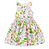 7 yr old girl clothes - Tonwod Girls Summer Dresses,Sleeveless Cotton Casual Floral Sundress Beach Skirt Suit for 1-10 Years Old Girls(7T,Light green-17)