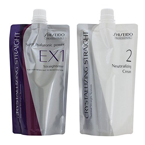 Shiseido Crystallizing Straight Express Processing for Healthy Hair EX1+2 by