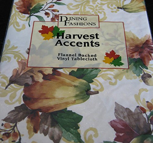 - Harvest Accents Dining Fashion Flannel Back Vinyl Tablecloths-