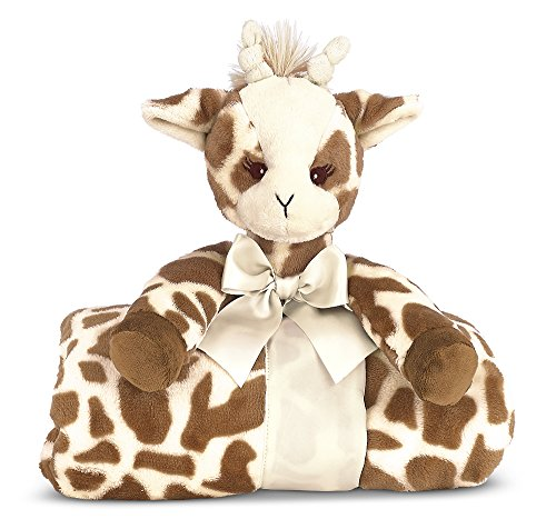 "Bearington Baby Patches Cuddle Me Sleeper, Giraffe Large Size Security Blanket, 28.5"" x 28.5"""