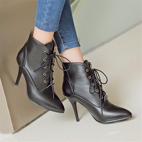 High heels boots light skin size shoes Black (cashmere) Vl4ZGOirdu