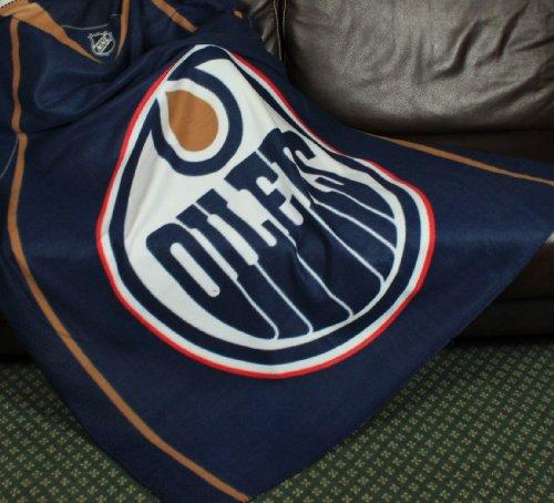 Edmonton Oilers NHL Fleece Throw Blanket by - Blanket Edmonton Oilers
