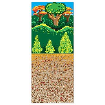Beistle Forest 8-Bit Backdrop, 4 by 30-Feet, Multicolor